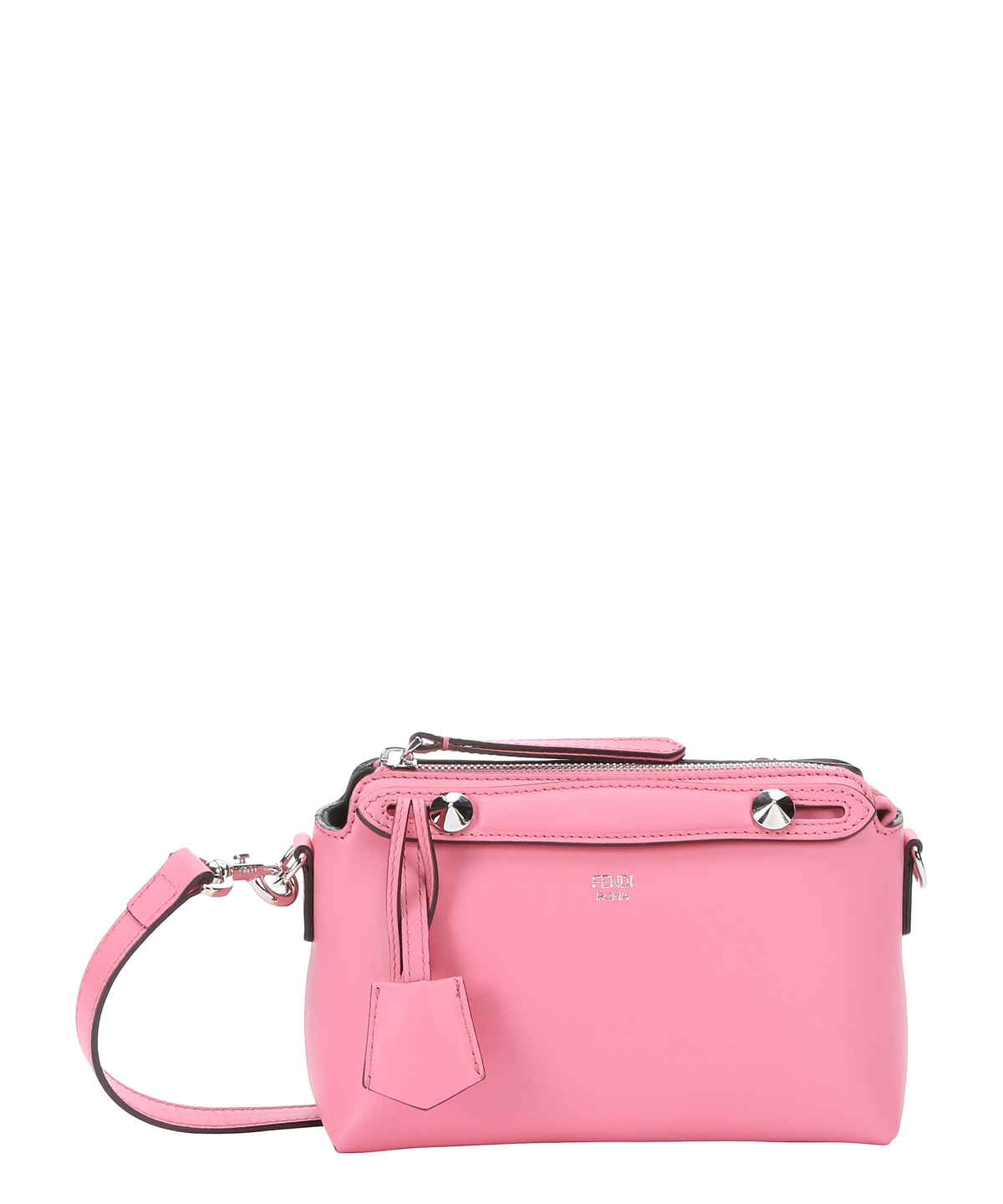FENDI Pink Leather Mini 'By The Way' Convertible Shoulder Bag'. #fendi #bags #shoulder bags #hand bags #leather #lining #