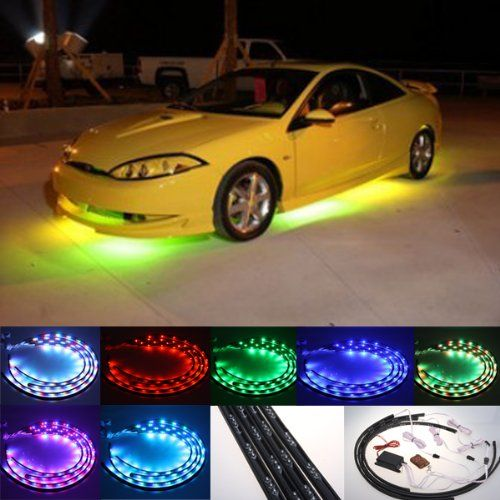 Fuloon 7 Color Led Under Car Glow Underbody System Neon Lights Kit This Is The Correct Model For My Iroc Car Led Lights Car Neon Lighting