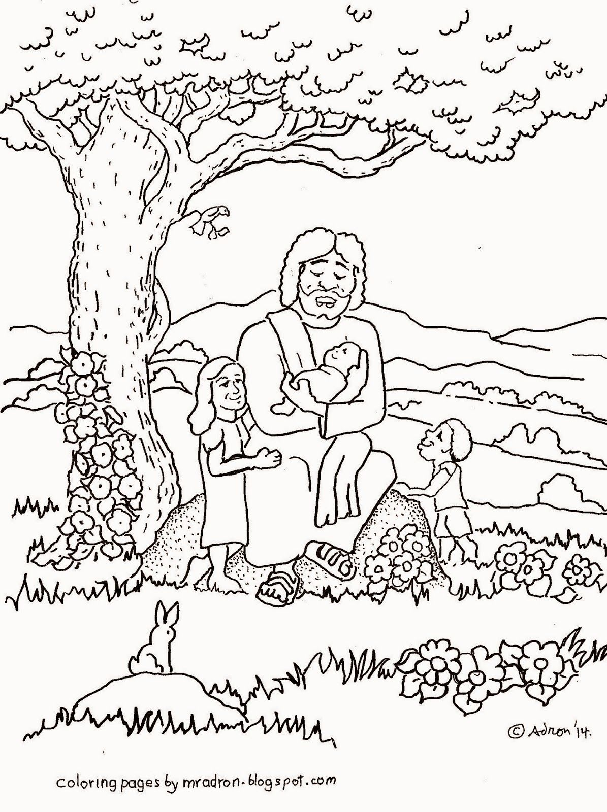 Jesus Blesses the Children coloring page. to see more like it ...