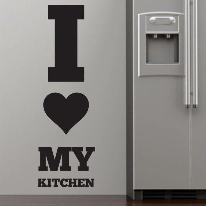 deko ideen küche wandsticker wandtattoo Wandgestaltung - Tapeten - küche tapezieren ideen