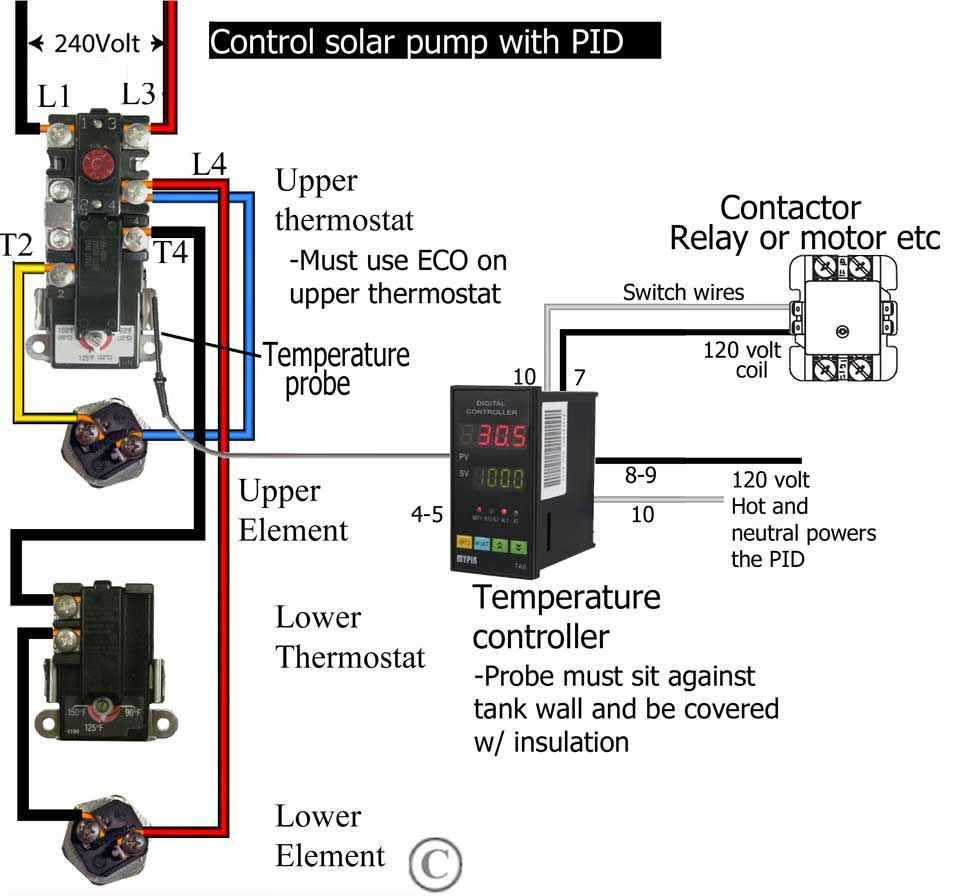 Add another thermostat to water heater http