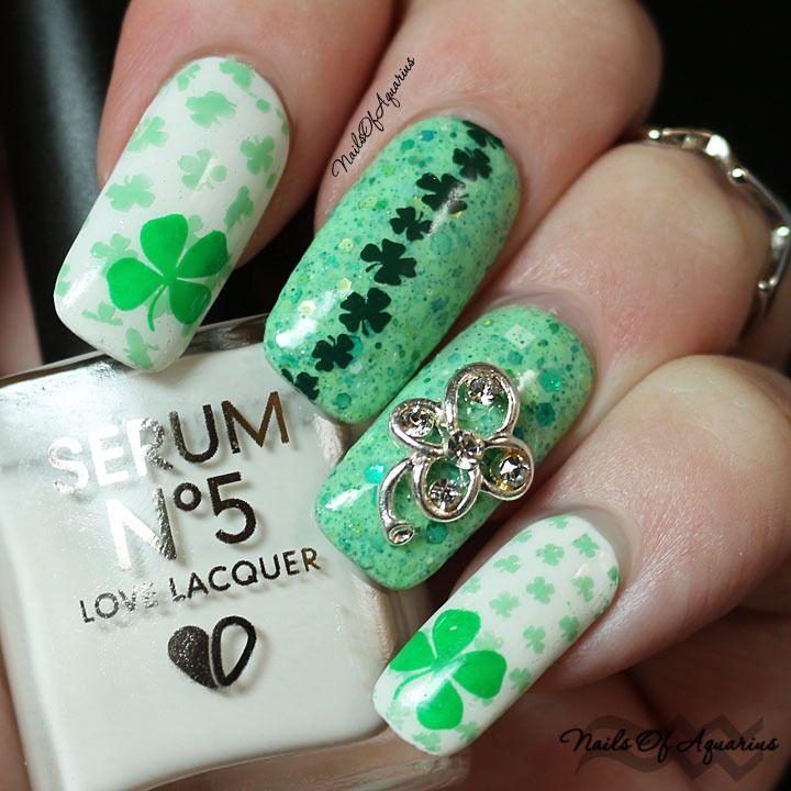 Happy St. Patrick\'s Day with Serum No 5 | Serum, Holiday nail art ...