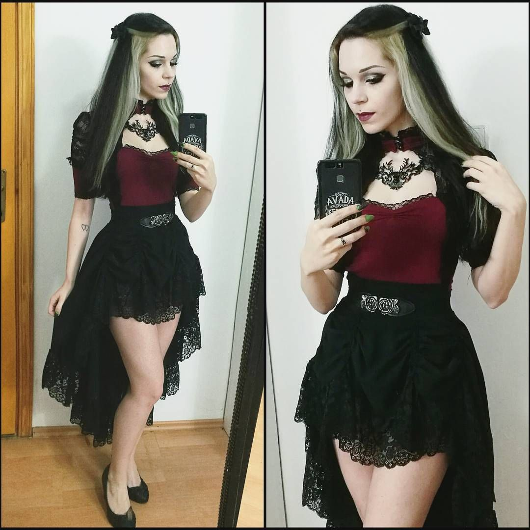 This skirt was the most sold design for prom celebrations last year, lets see what model you'll like the most this year :D #dark #gothic #skirt #fashion #design #lace #details #prom #night