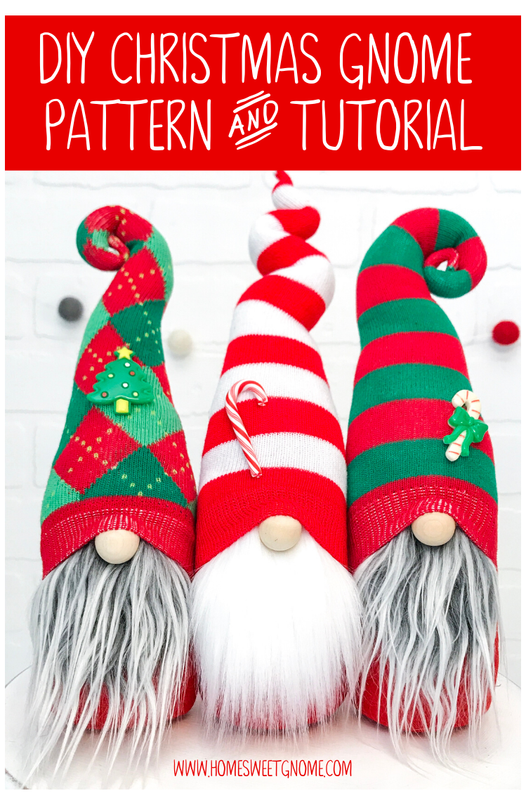 How to Make Christmas Gnomes Sew and No Sew (Sock
