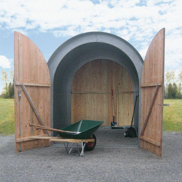 Gartenhaus Wellblech mit Holzfront Wellblech, Gartenhaus