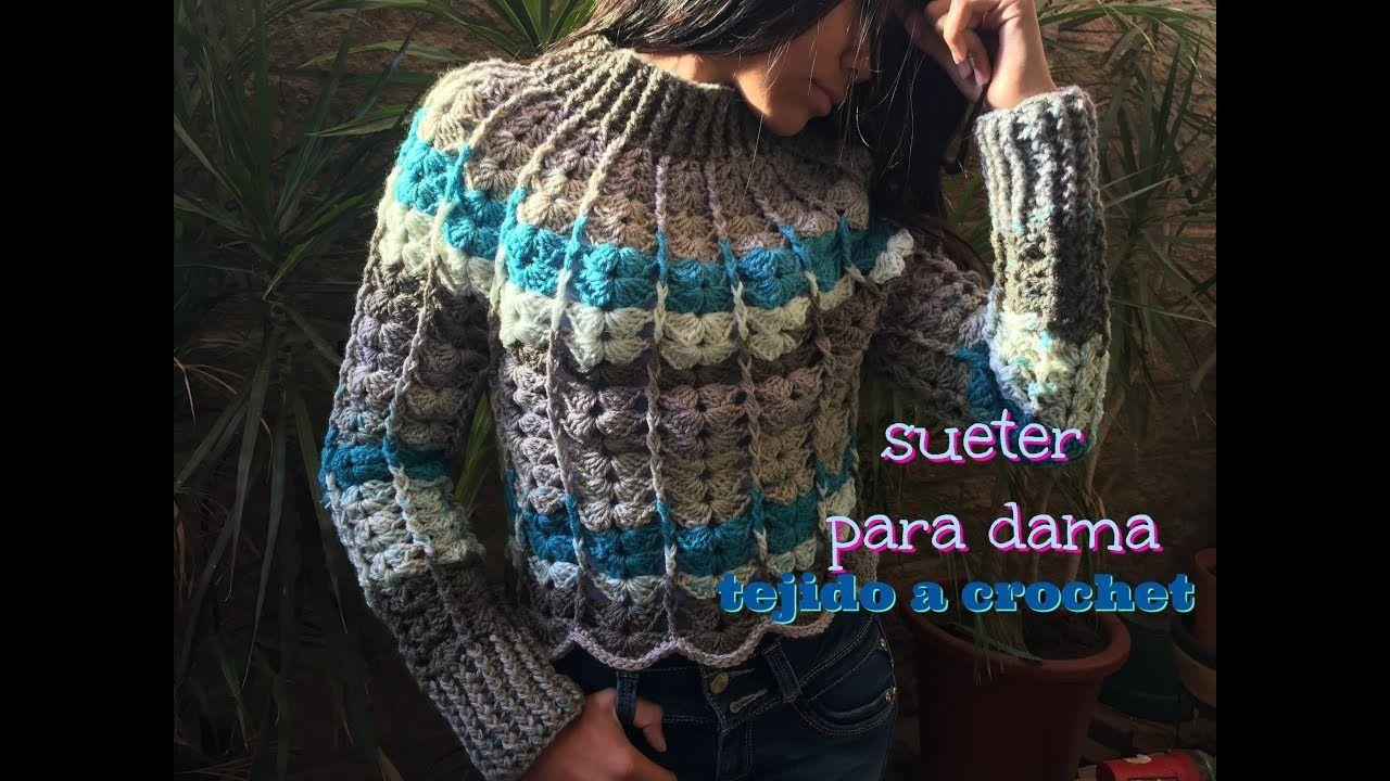 Sueter para Dama Tejido a Crochet | Blusa Crochet | Pinterest ...