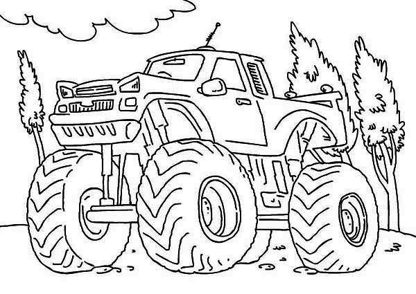 monster truck iron outlaw coloring page download print online