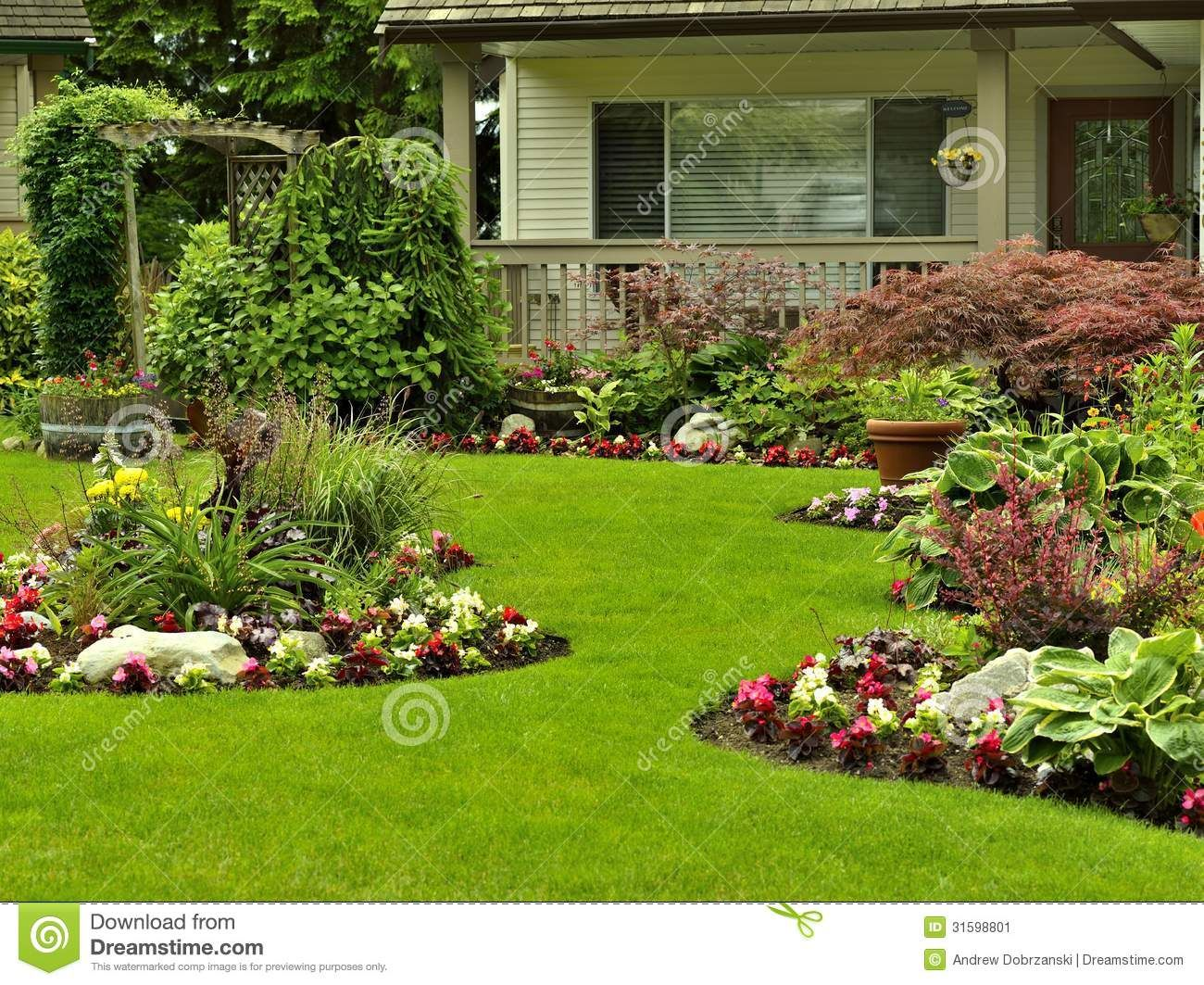 Good Front Yard Landscaping   Download From Over 46 Million High Quality Stock  Photos, Images,