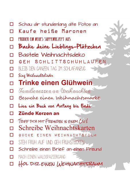Weihnachts-Do-To-Liste