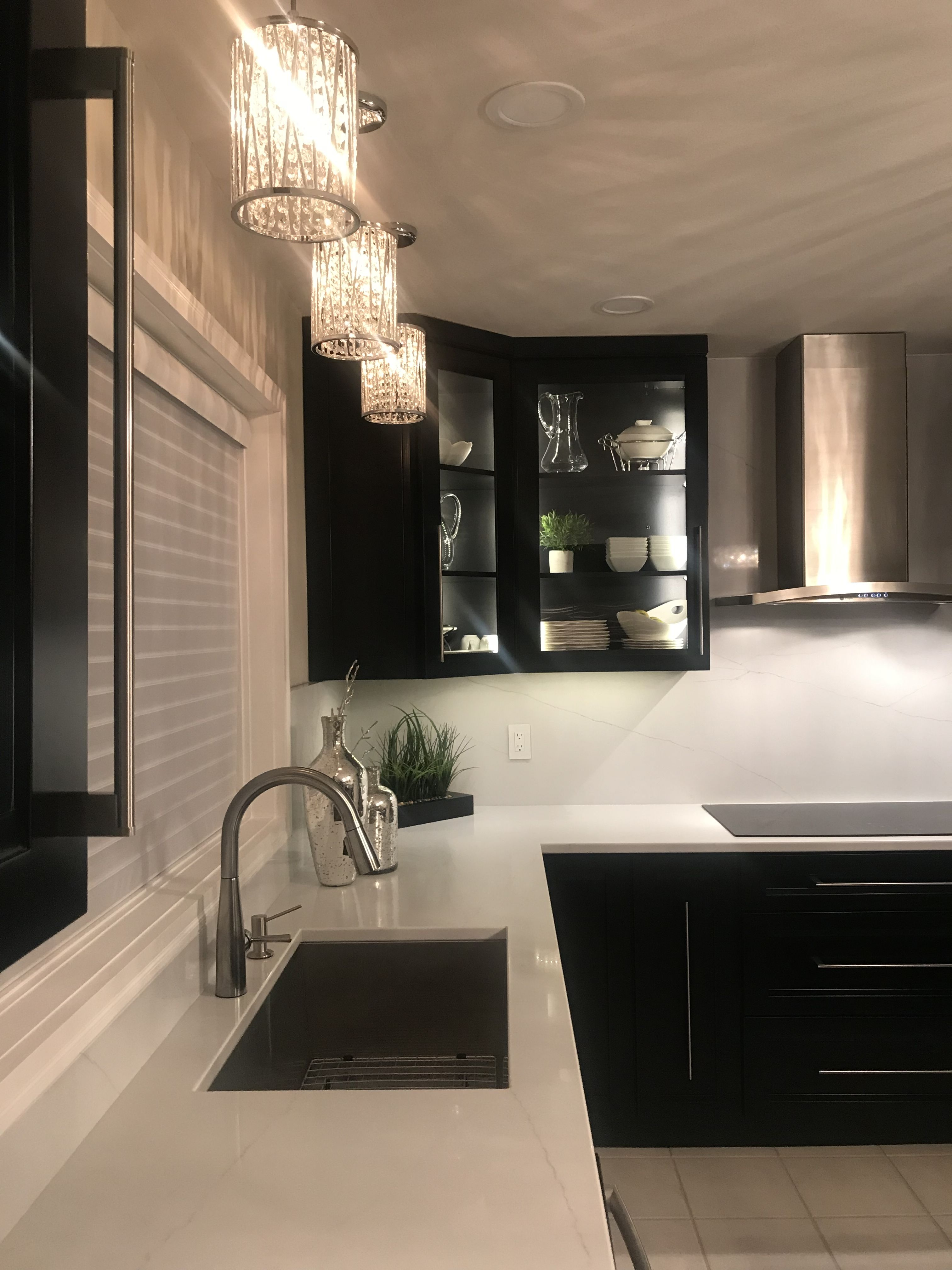 Our Dream Kitchen White Quartz Countertop Countertop Backsplash