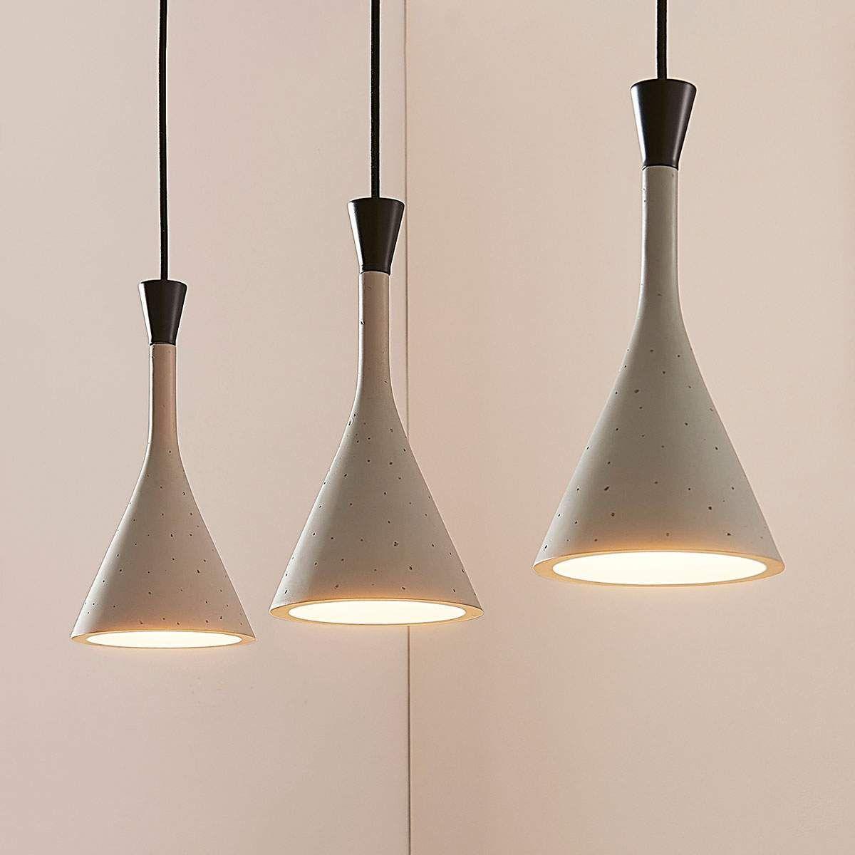 Hangelampe Flynn Furs Esszimmer Grau 3 Flammig Esszimmerlampe Bulb Pendant Light Pendant Light Pendant Lamp