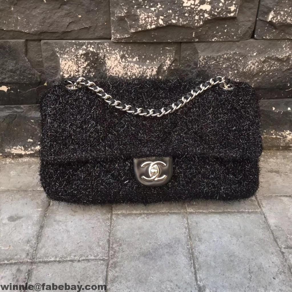 73bf90a2deed Chanel Knit Pluto Glitter Medium Flap Bag A91984 2017 | Favorite ...