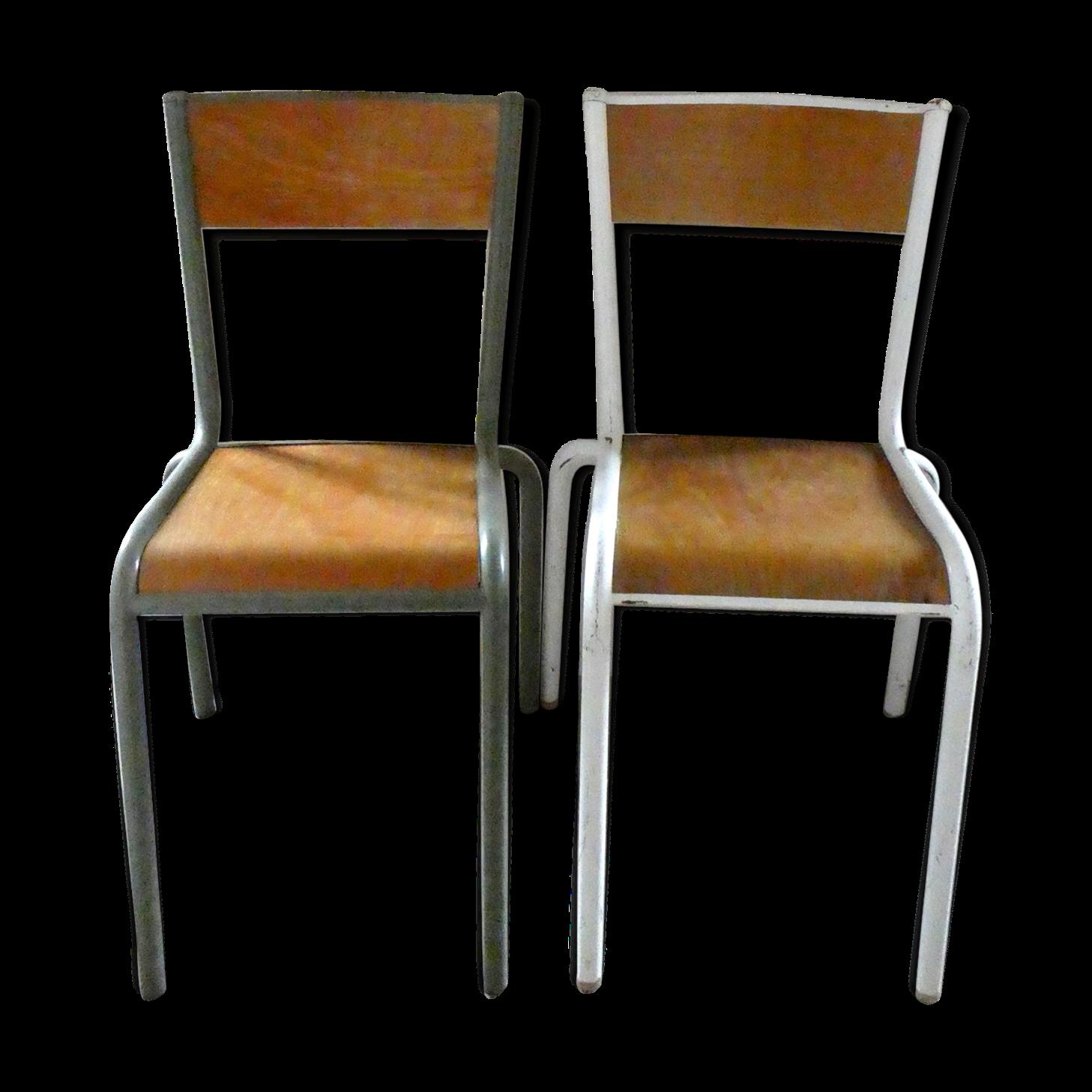 Chaise D École Mullca paire de chaises d'école mullca 510, en bois et métal | bois