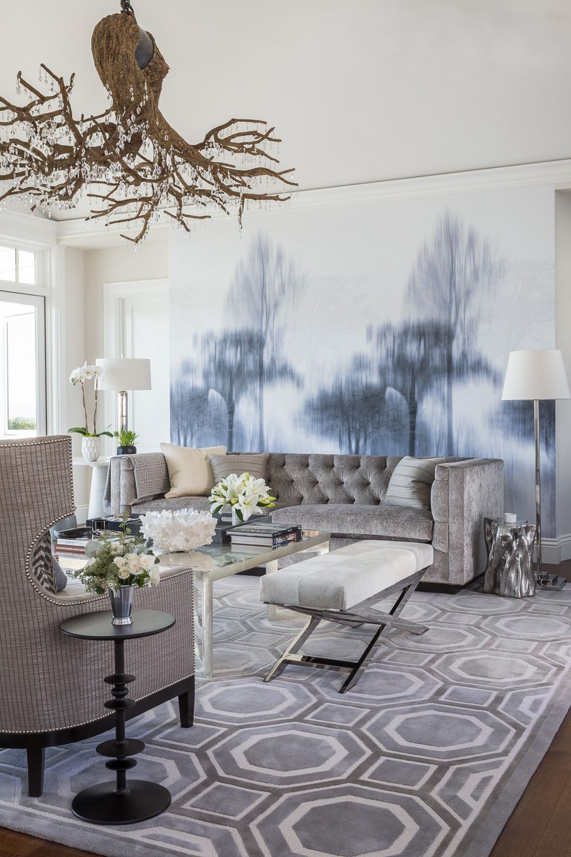 Interior living room in gray tones, photo