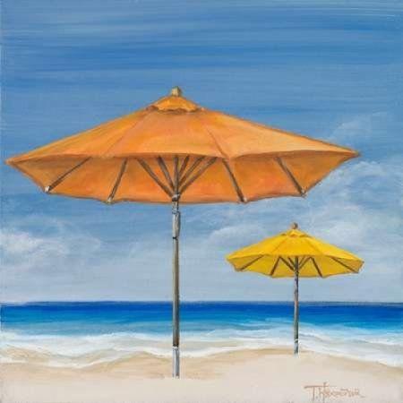 Coastal Scene I Canvas Art - Tiffany Hakimipour (24 x 24)