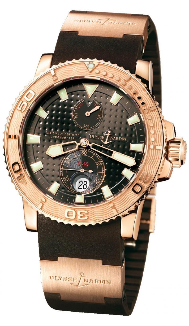 Часы Ulysse Nardin 266-33-3A/925 Maxi Marine Diver Rose Gold