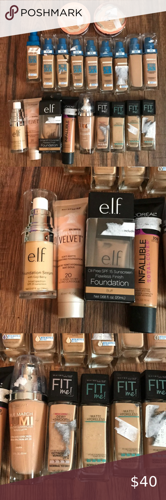 Lot of 20 Various Foundations Makeup Artists in 2020 No