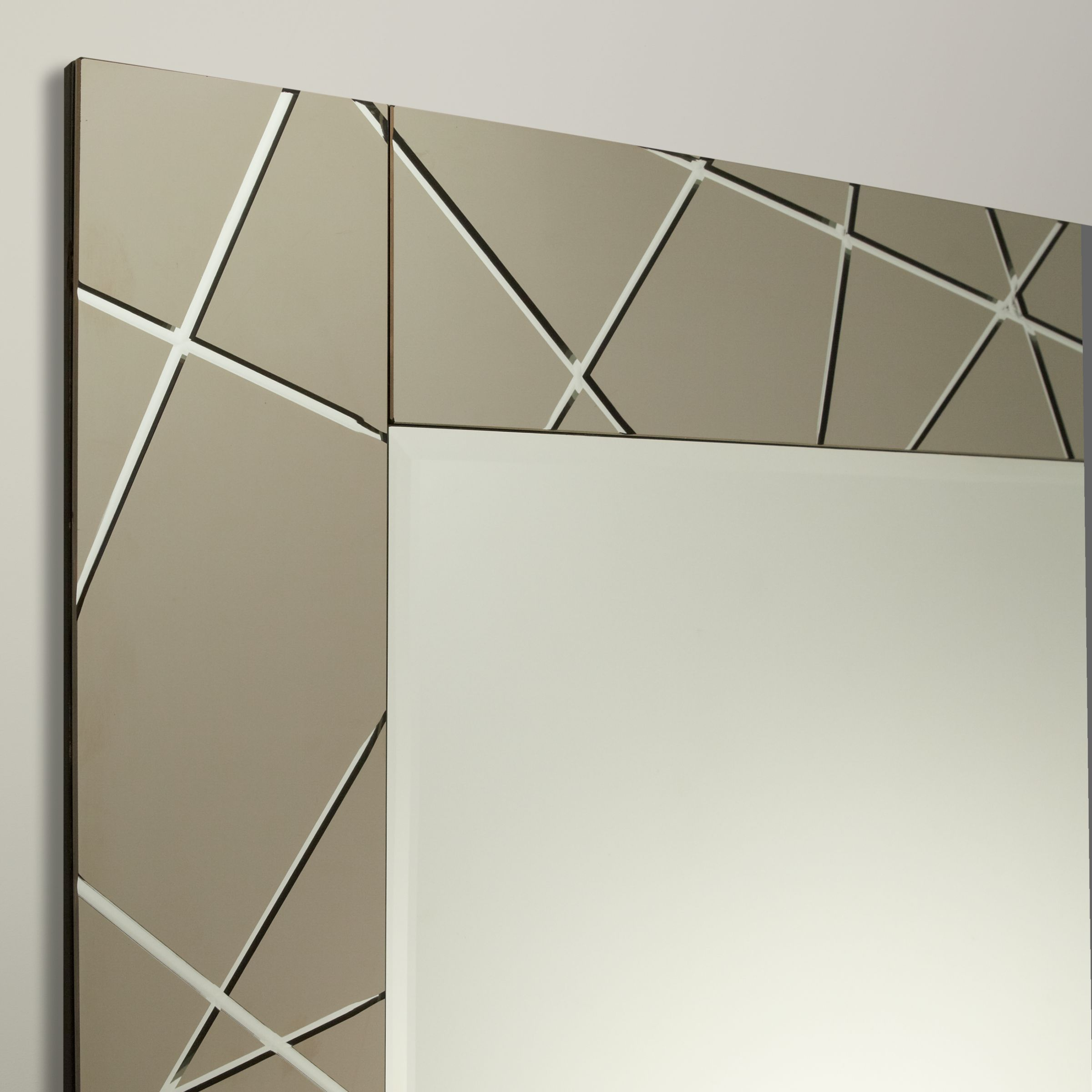 50 Indian Interior Design Ideas: John Lewis & Partners Engraved Mirror, 90 X 60cm, Smoke