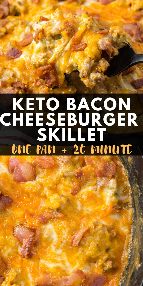 Photo of Keto Bacon Cheeseburger Skillet
