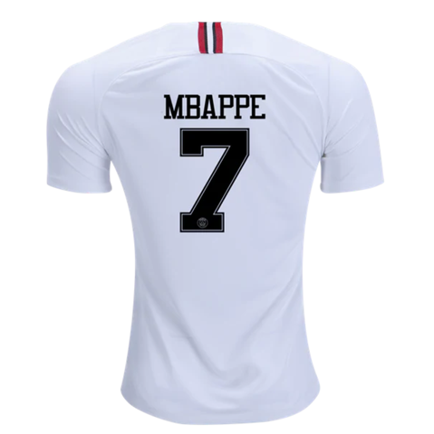 PSG 18 19 Champions League White Men Soccer Jersey Personalized name and  number 5a93026bb