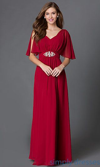 Long Flutter Sleeve Dresseother Of The Bride Dresses At Simply Budget Prom With Empire Waists For Formals