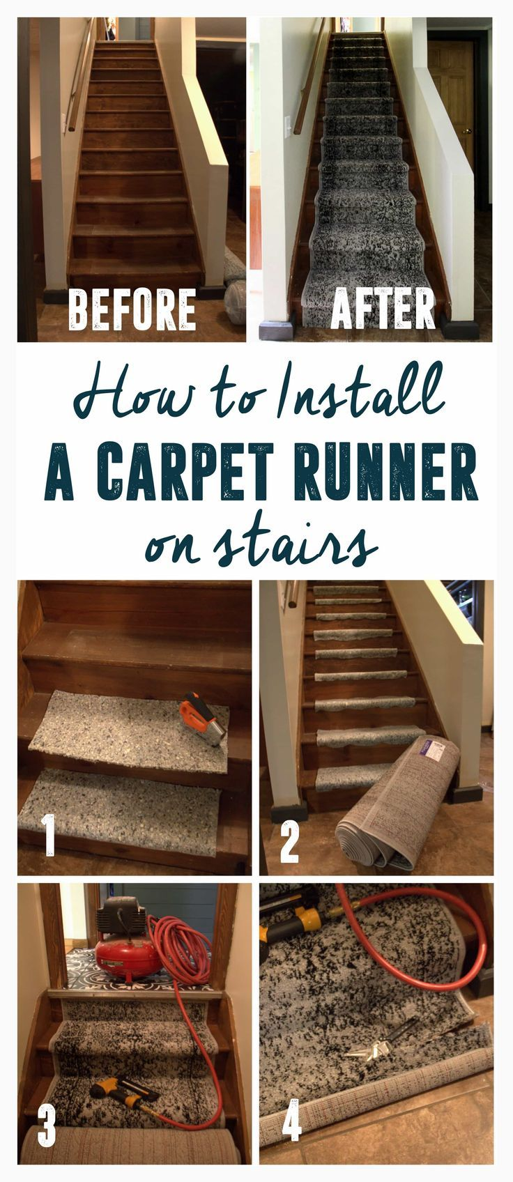 How To Install A Stair Carpet Runner Diy