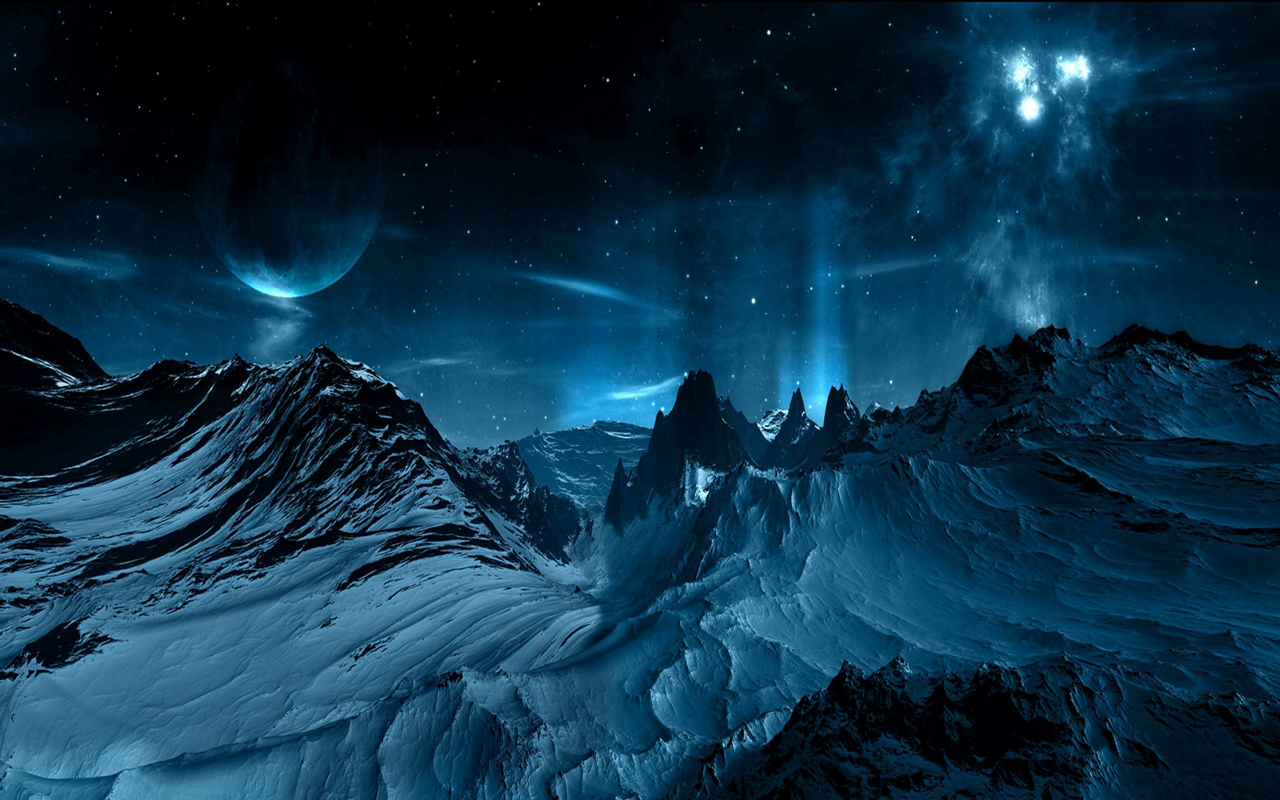 Sci Fi Landscape Wallpaper Sci Fi Landscape Blue Space Wallpaper Night Sky Wallpaper Landscape Wallpaper Sci Fi Wallpaper