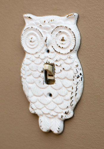Owl Lights Out Switch Plate Cover By Modcloth Eulendekoration Vintage Dekorationen Und Dekor