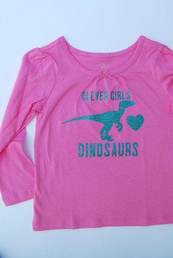 af3662006 Girls Dinosaur Shirt Clever Girls Velociraptor by DoodlesDinoTees ...