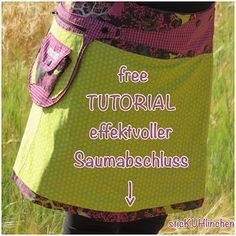 sticKUHlinchen: Wendewickelrock mit mini Tutorial für einen effektvollen Saumabschluss! Ein toller Hingucker für Röcke! #tutorial #freebie #nähen
