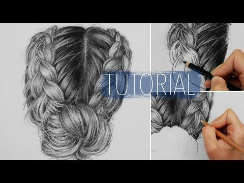 How to draw realistic hair with charcoal and white pastel pencil | Drawing Tutorial Step by Step - YouTube | Videos de dibujos