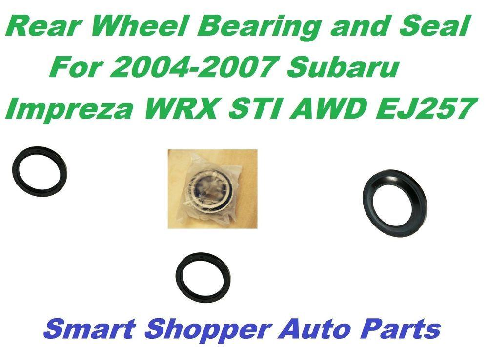 Rear Wheel Bearing and Seal for 0407 Subaru Impreza WRX