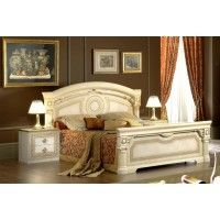 Aida Traditional Beige Bed Made In Italy