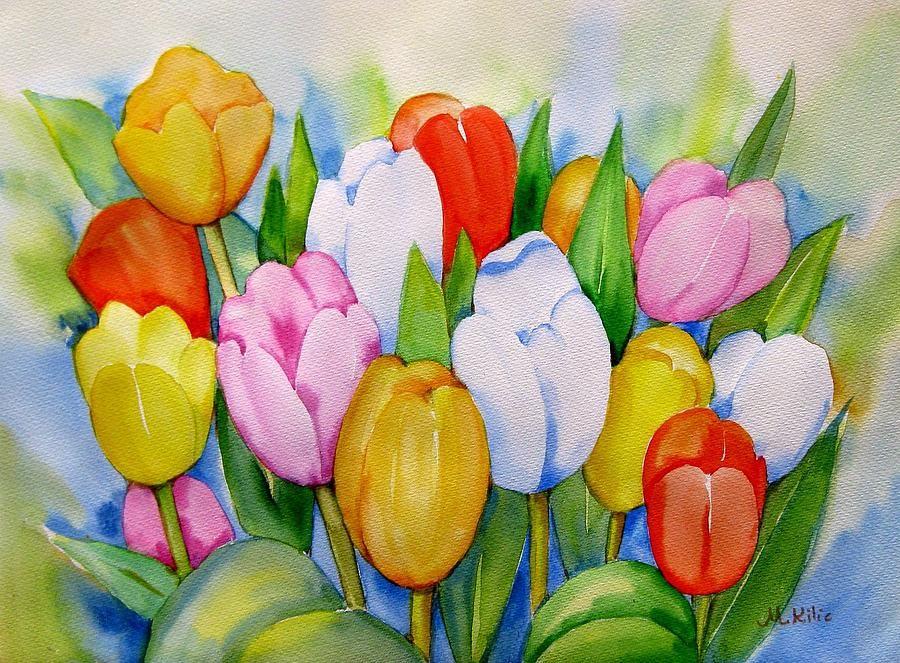 Букет тюльпанов картинки как нарисовать