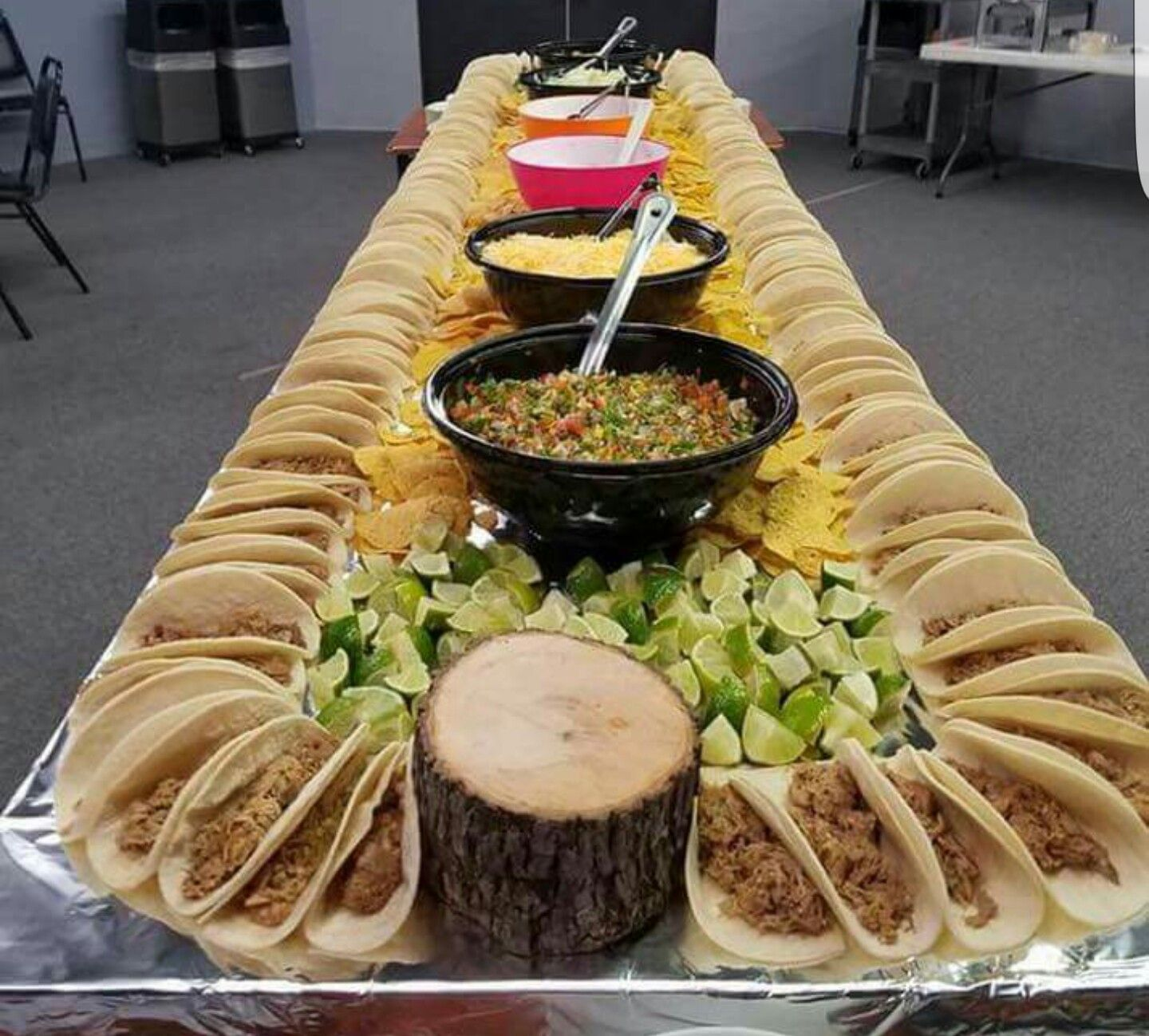 Birthday Table Presentation: Taco Bar, Taco Party