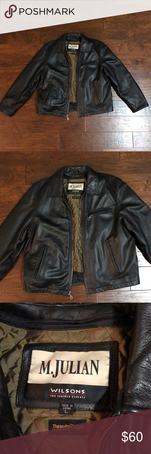 Wilson's Leather Jacket M. Julian size Large Leather