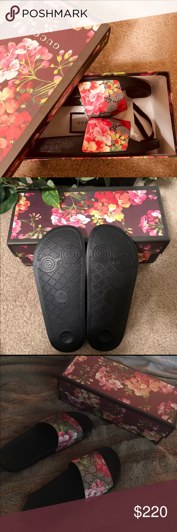 0704d1c49ee2e Gucci Bloom Flip flops Only contact when ready to purchase. I have many  sizes available Gucci Shoes Sandals