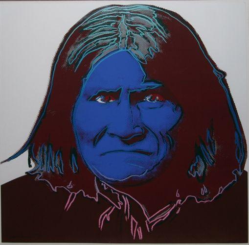 Andy Warhol, Cowboys and Indians: Geronimo, 1986