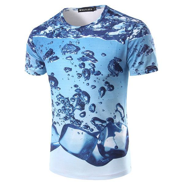 Short Sleeve Crewneck Tee Casual T-Shirt for Man and Women