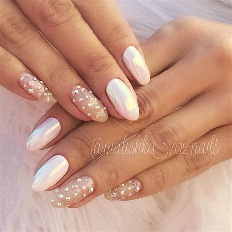 5 nail designs white rhinestones 2020 naildesigns nail