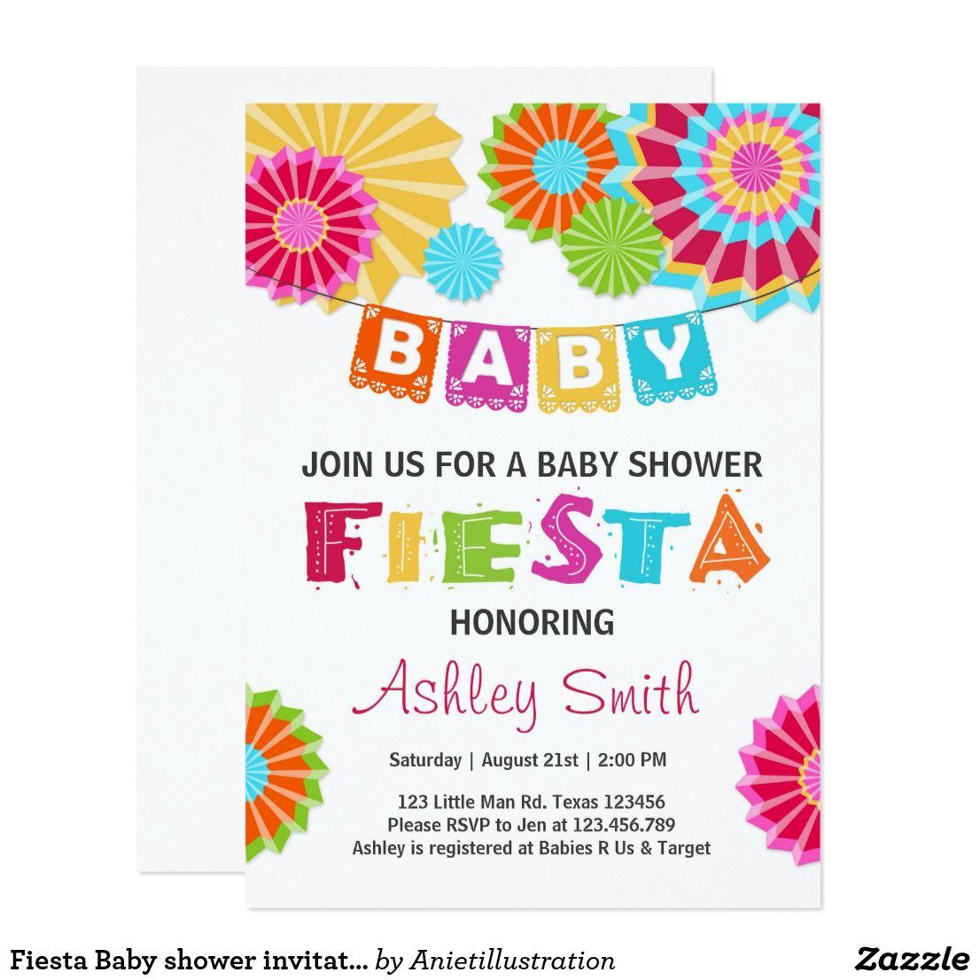 Fiesta Baby shower invitation Mexican baby shower | Baby | Pinterest ...