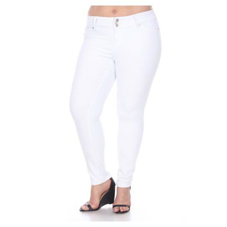 48b2ba3ef2a57 Women's Plus Size Super Stretch White Denim Jeans | Products | White ...