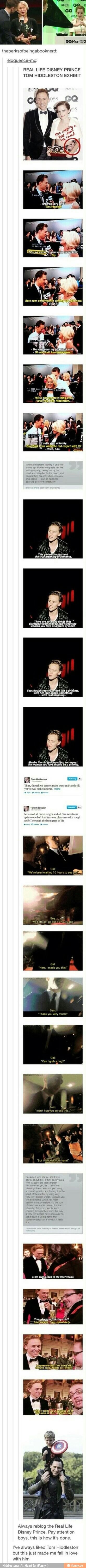 Everyone should learn from Tom on these kinds of things