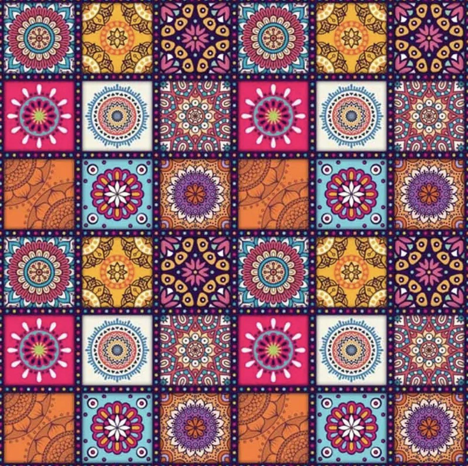 Us Seller 40x40cm Mandalas Quilt Inspired Pattern Diamond Etsy Mandala Pattern Diamond Painting Mandala Art