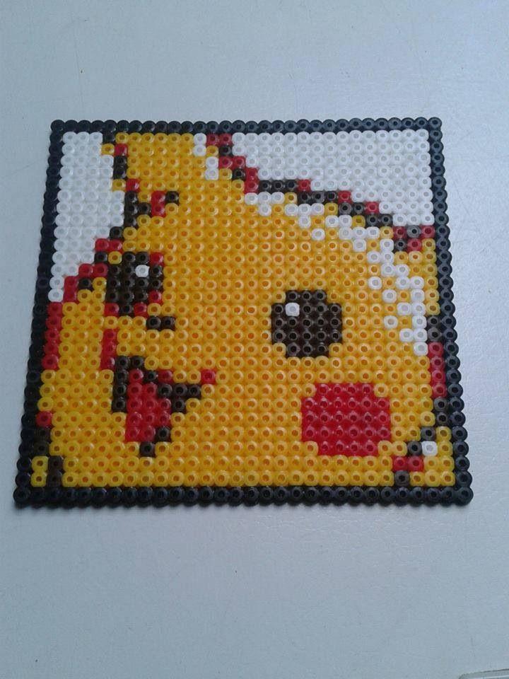Pikachu 6 - pokemon | Pearler beads | Pokemon perler beads