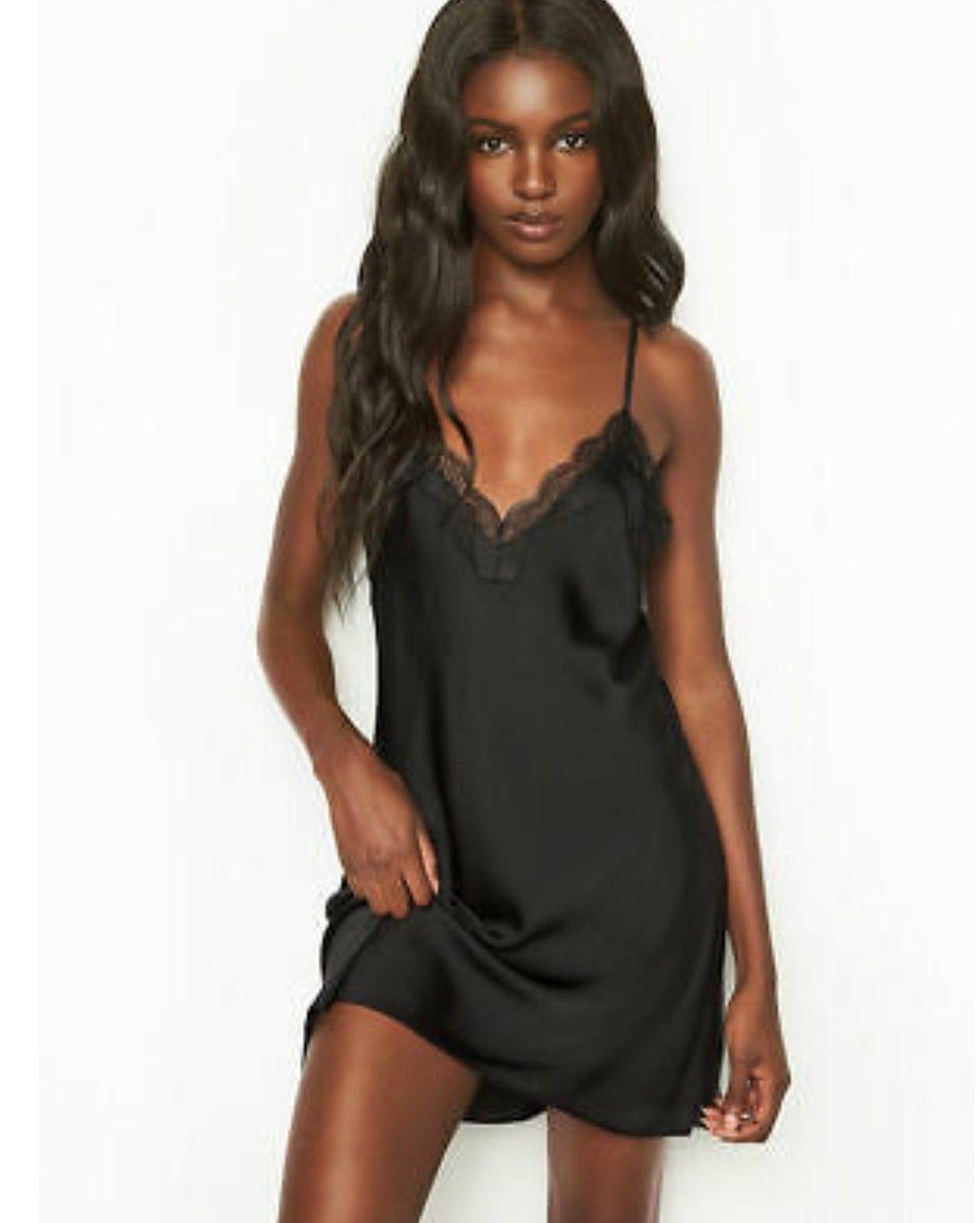 Nwot Victorias Secret Slip Dress Lace Slip Dress Lace Slip Satin Slip Dress [ 1497 x 1200 Pixel ]