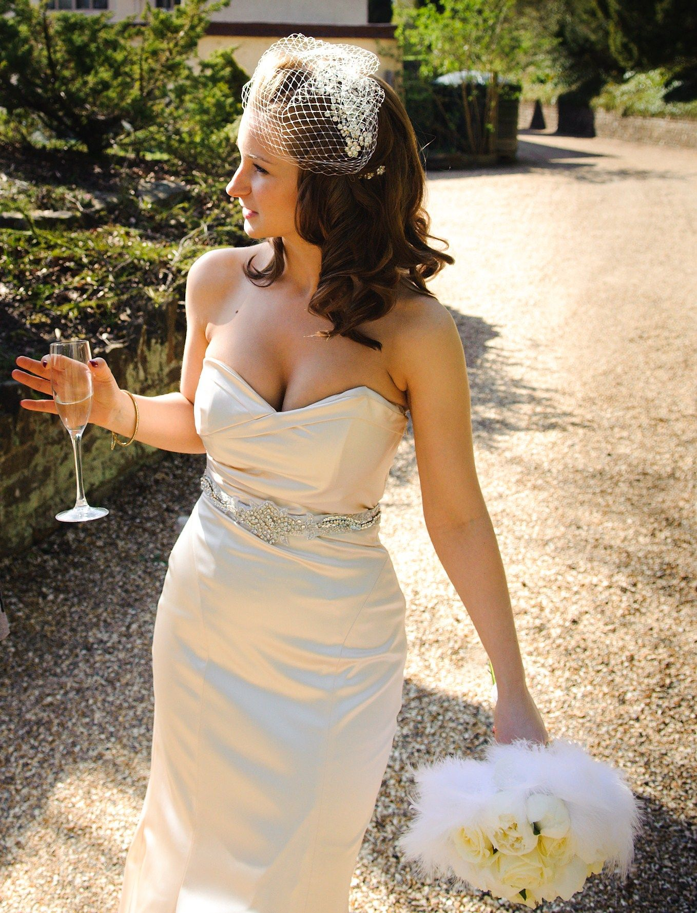 Peonies And Feathers At Greyfriars Mansion Www Florish Co Uk Strapless Dress Formal Strapless Dress Dresses