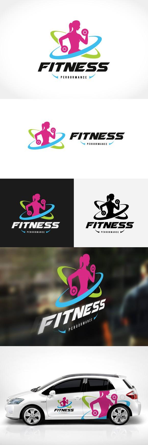 Fitness Logo Fitness logo, Logo templates, Logos