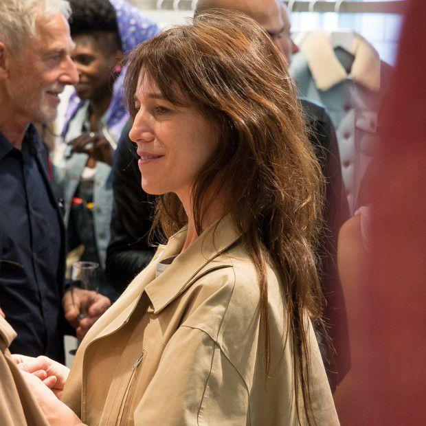 Charlotte Gainsbourg unveils Current-Elliott range denim (2014). Photo courtesy ELLE