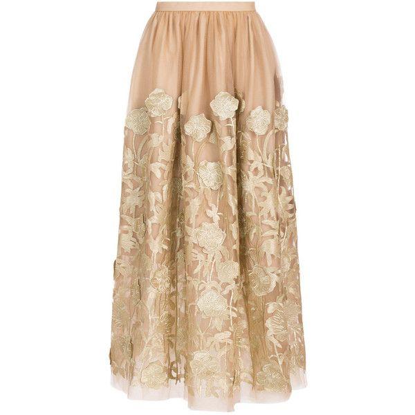 Tulle Layered Maxi Skirt Razan Alazzouni Nlo9Nur